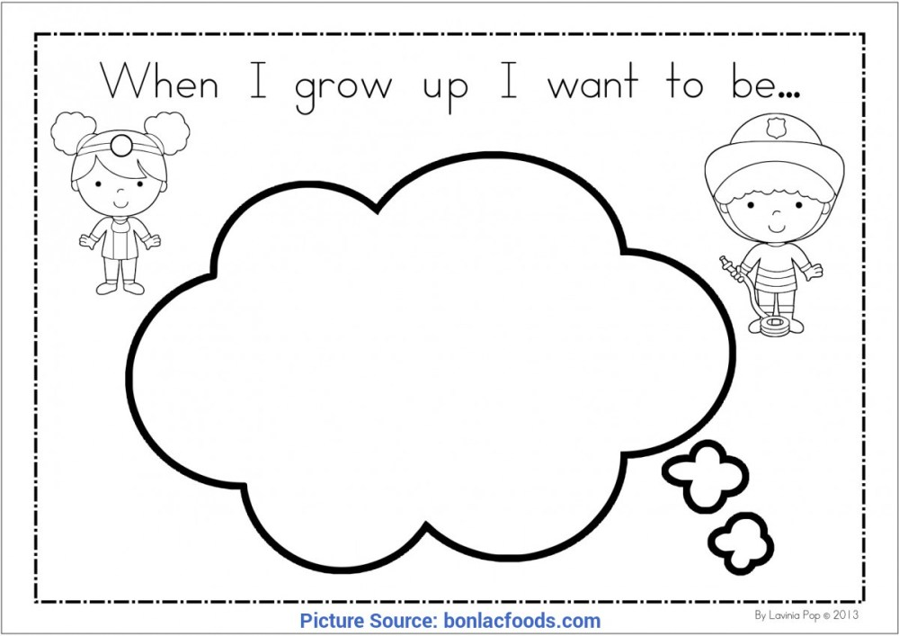 medium resolution of briliant when i grow up preschool theme when i grow up i want to be worksheet