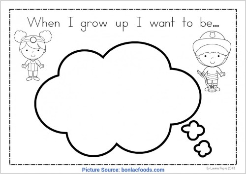 small resolution of briliant when i grow up preschool theme when i grow up i want to be worksheet