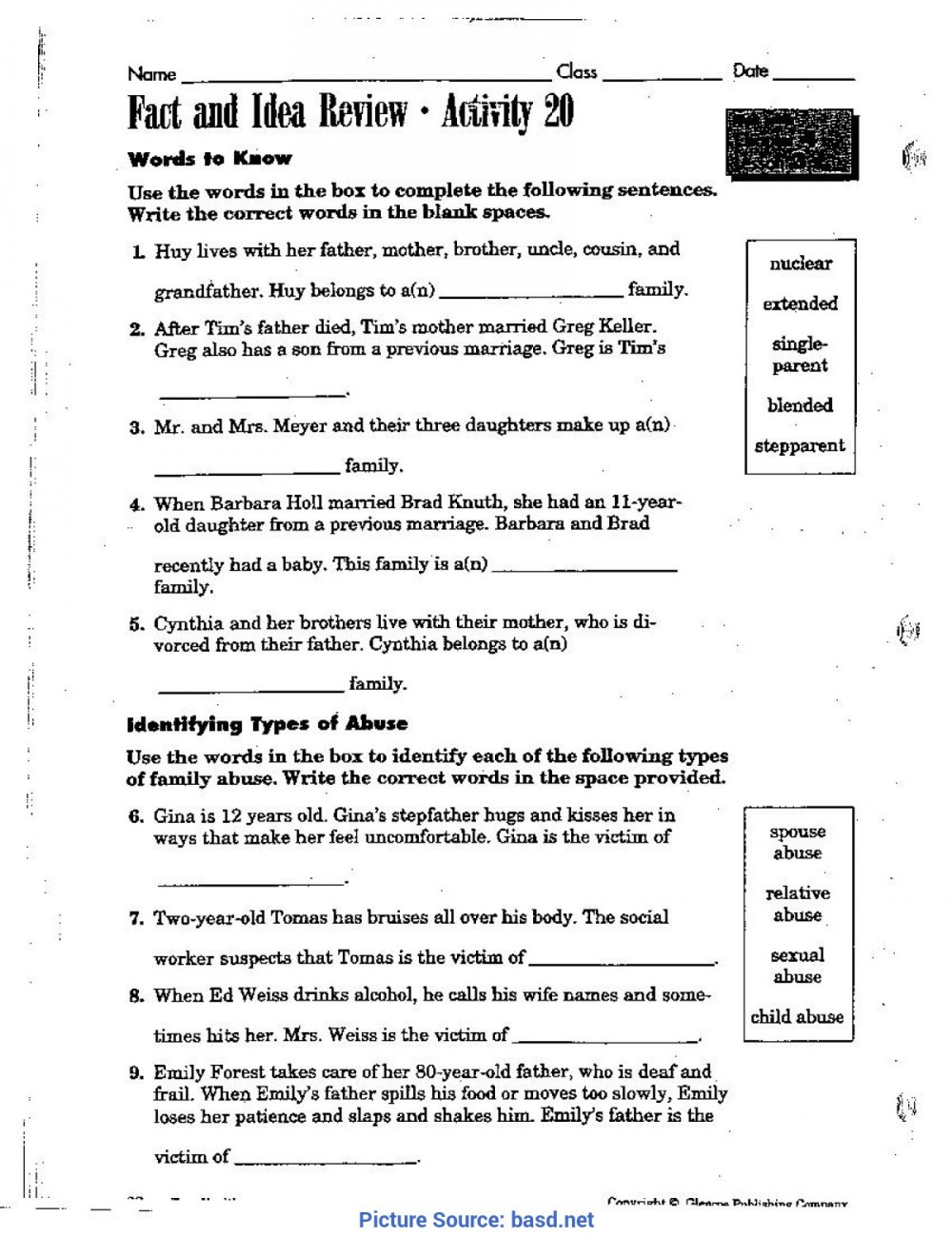 medium resolution of 5th Health Worksheets   Printable Worksheets and Activities for Teachers