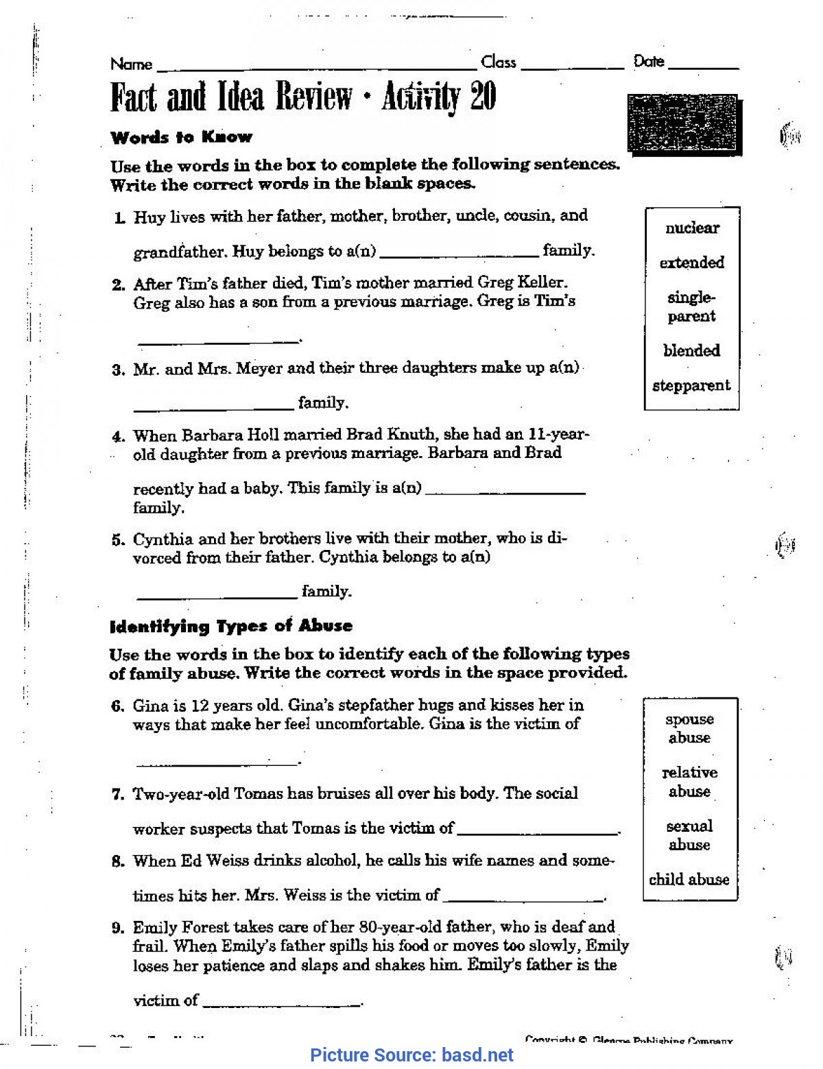 hight resolution of 5th Health Worksheets   Printable Worksheets and Activities for Teachers