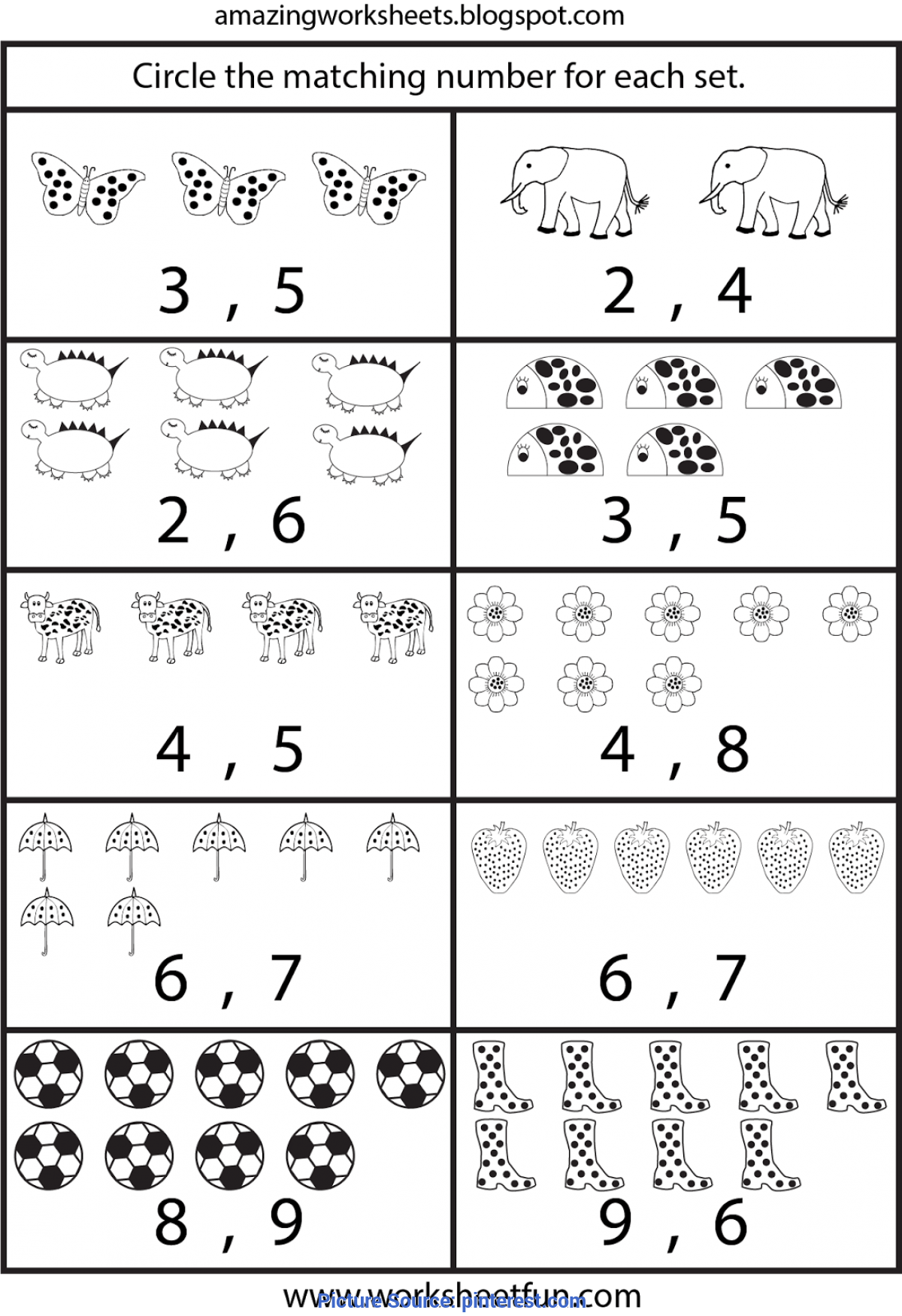 Trending Kindergarten Math Worksheets Printable