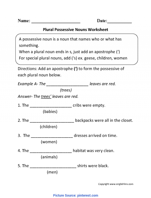 small resolution of Great 2Nd Grade Lesson Plans On Nouns Plural Possessive Nouns Worksheets €?    Pintere - Ota Tech