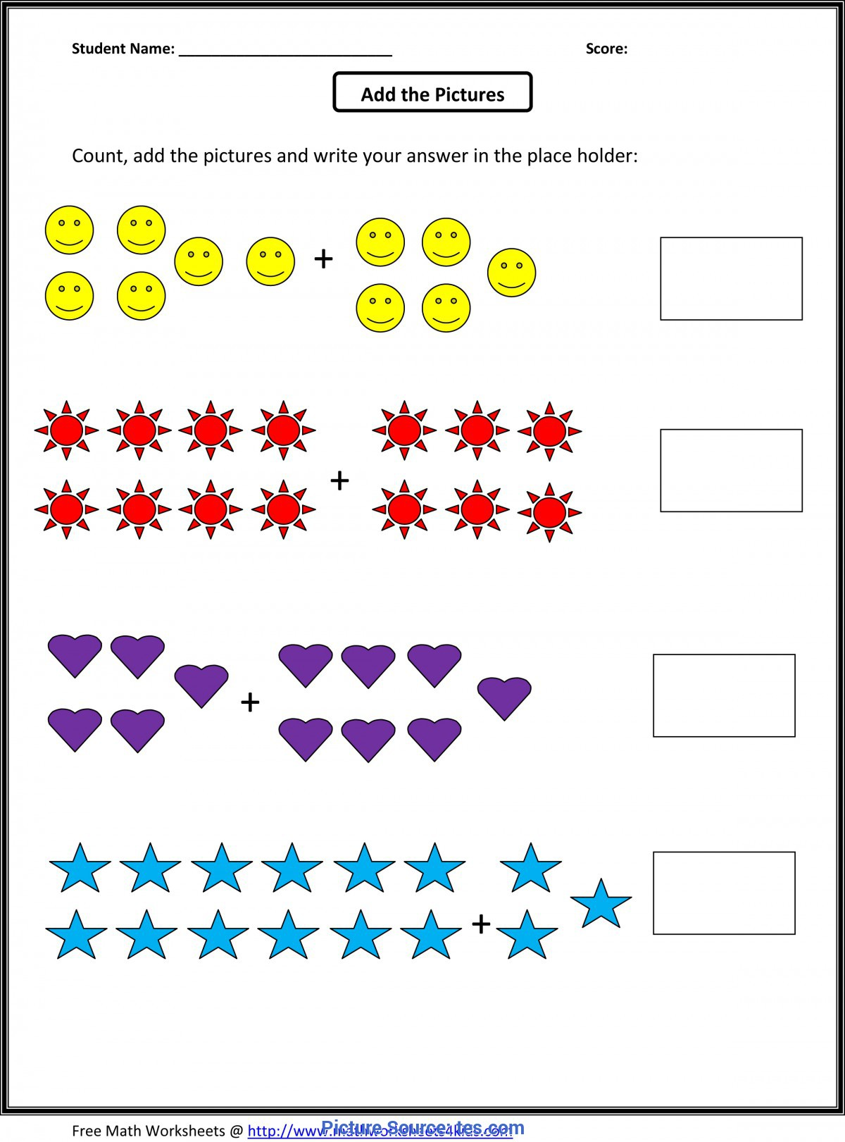 Great Activities For Grade 1 Students Addition For D