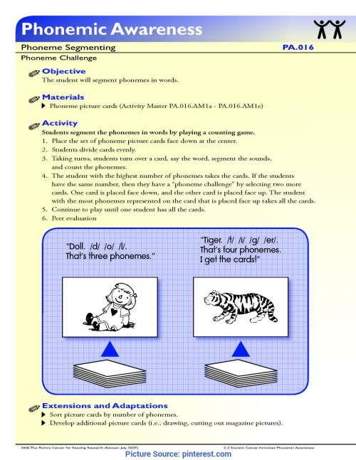 small resolution of Interesting Phonemic Awareness Lesson Plans First Grade The Student Will  Segment Phonemes In Words.   Rf.1.2D First Grad - Ota Tech