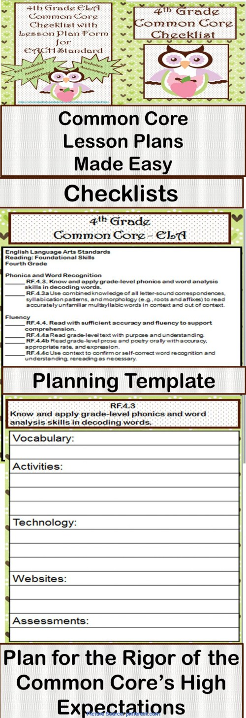 small resolution of Newest 4Th Grade Phonics Lesson Plans 4Th Grade Ela Common Core Checklist -  Lesson Planning For - Ota Tech