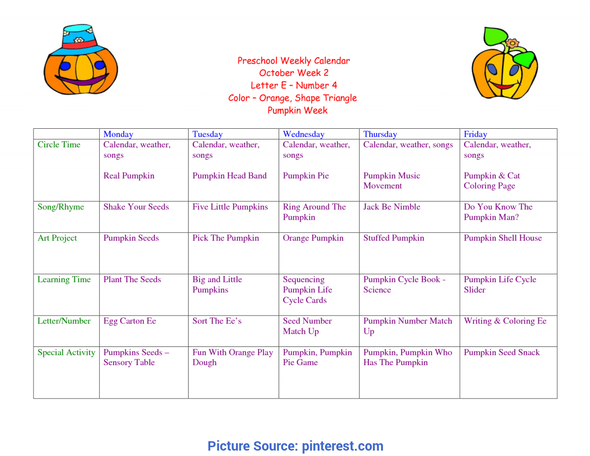 Toddler Lesson Plans For October Preschool Weekly Cal