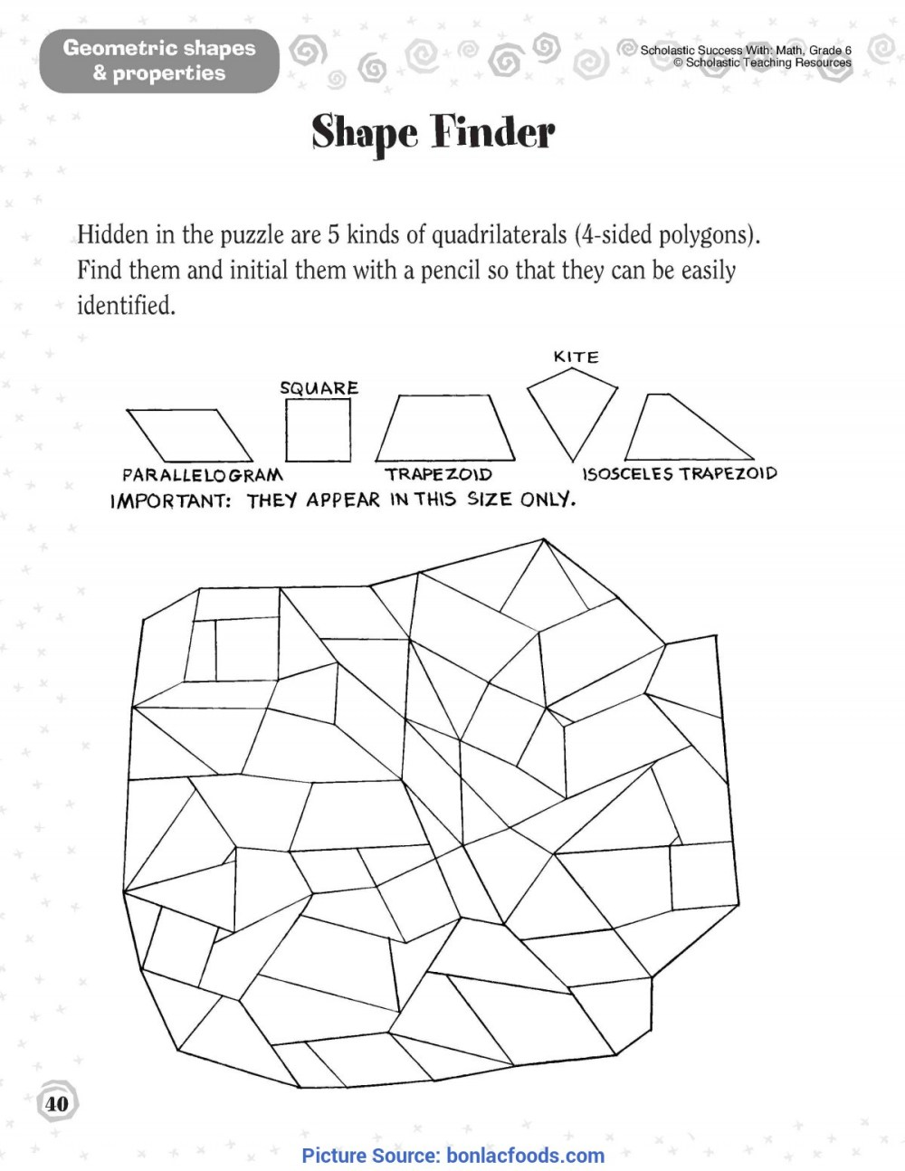 medium resolution of Second Grade Plane Shapes Worksheet   Printable Worksheets and Activities  for Teachers