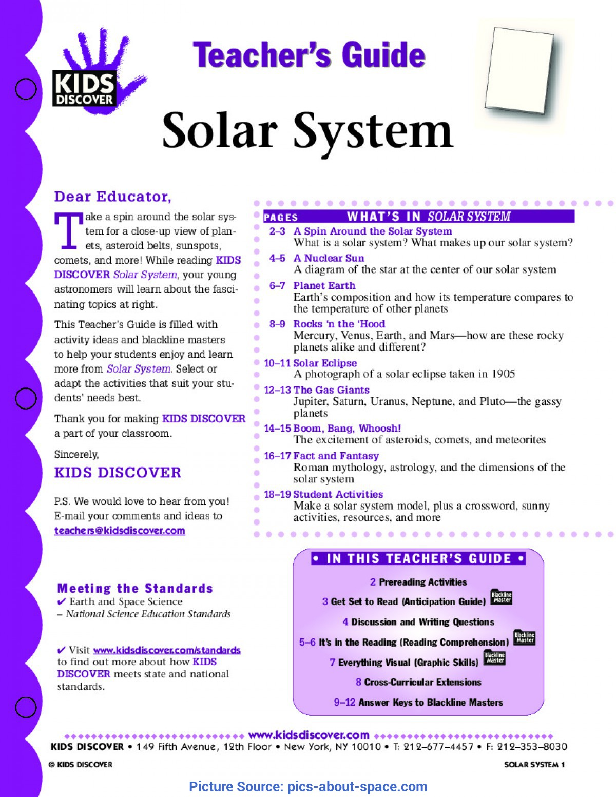 Simple 5e Lesson Plan For Kindergarten Solar System 5e