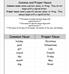 Common And Proper Noun Worksheets 3rd Grade   Printable Worksheets and  Activities for Teachers [ 1553 x 1200 Pixel ]