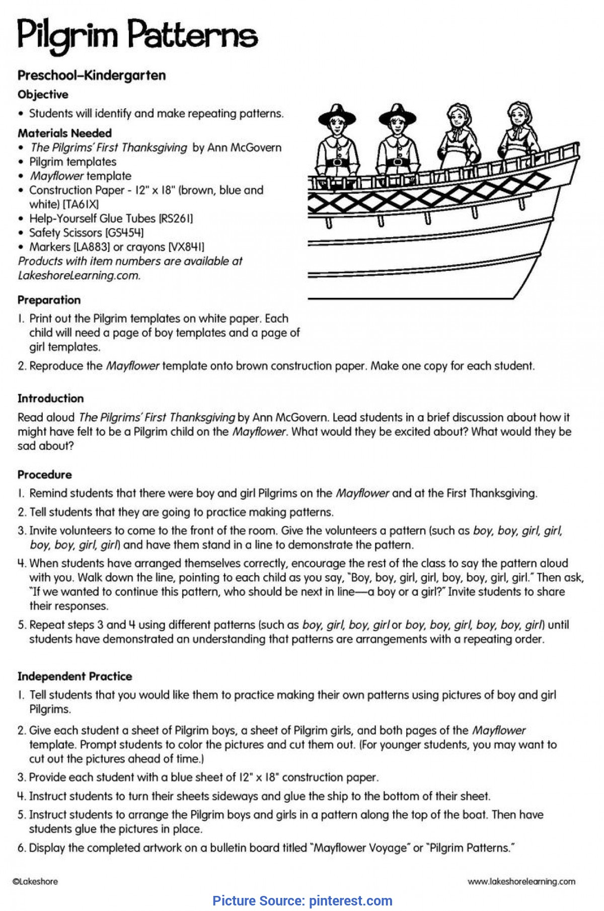 Simple Lesson Plans For Preschool About Thanksgiving 51