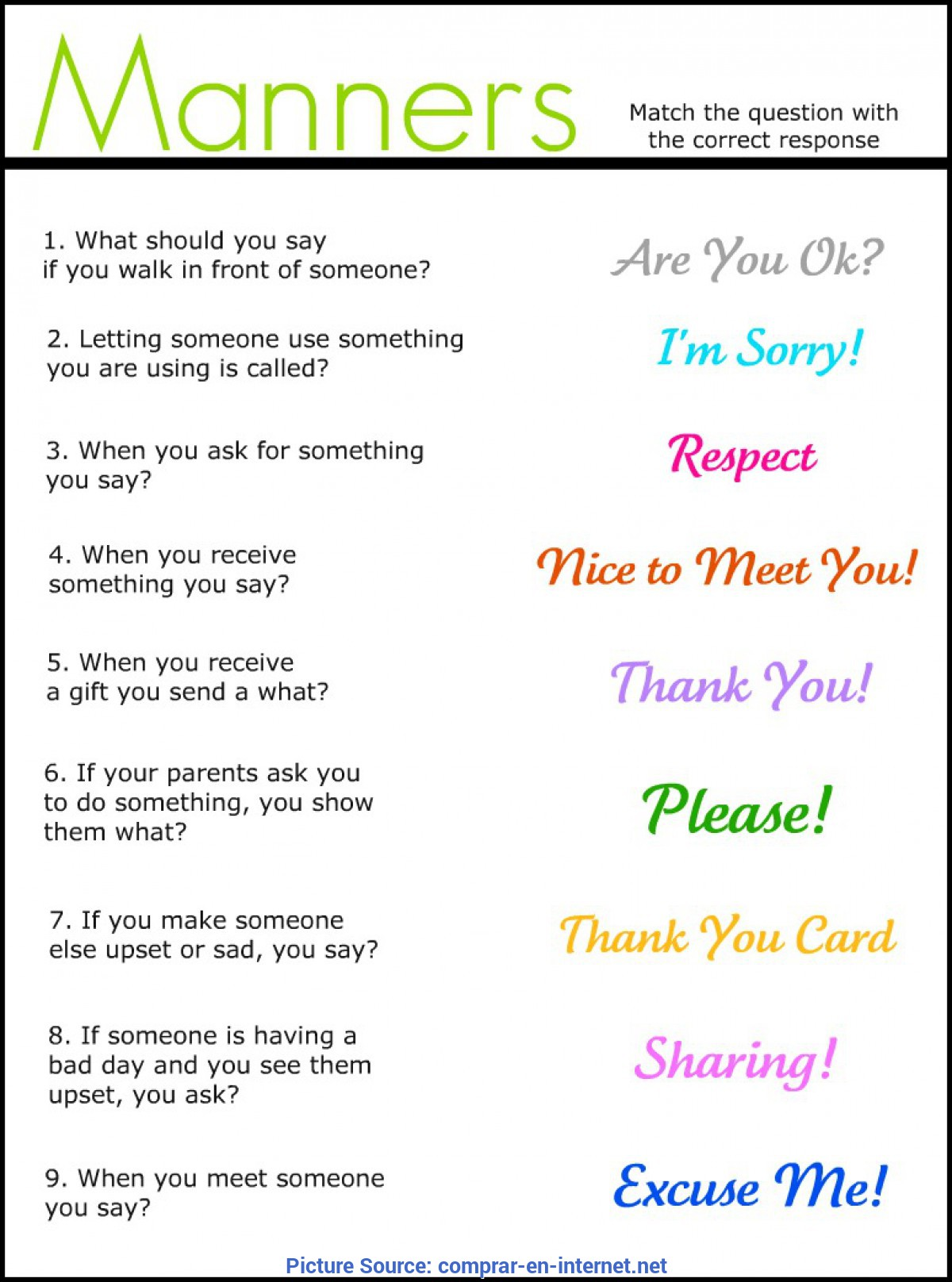 Special Pre K Lesson Plans On Manners Good Manners