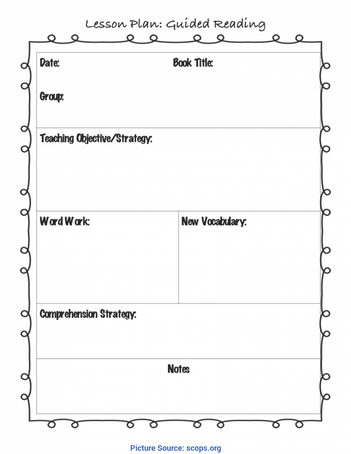 Special Reading Lesson Plan Preschool Worksheet Printable