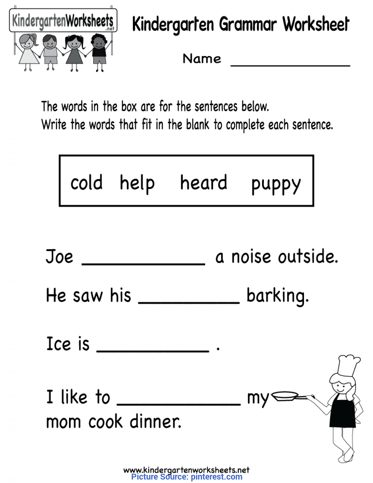 Top Kindergarten Grammar Lesson Plans Kindergarten Grammar