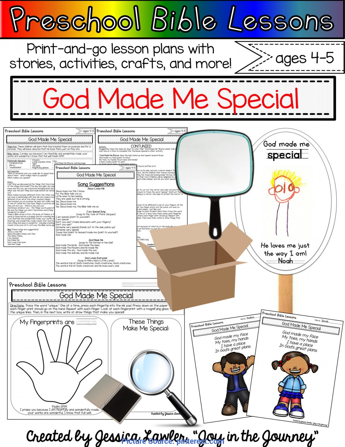 Preschool Bible Lessons God Made Me Special