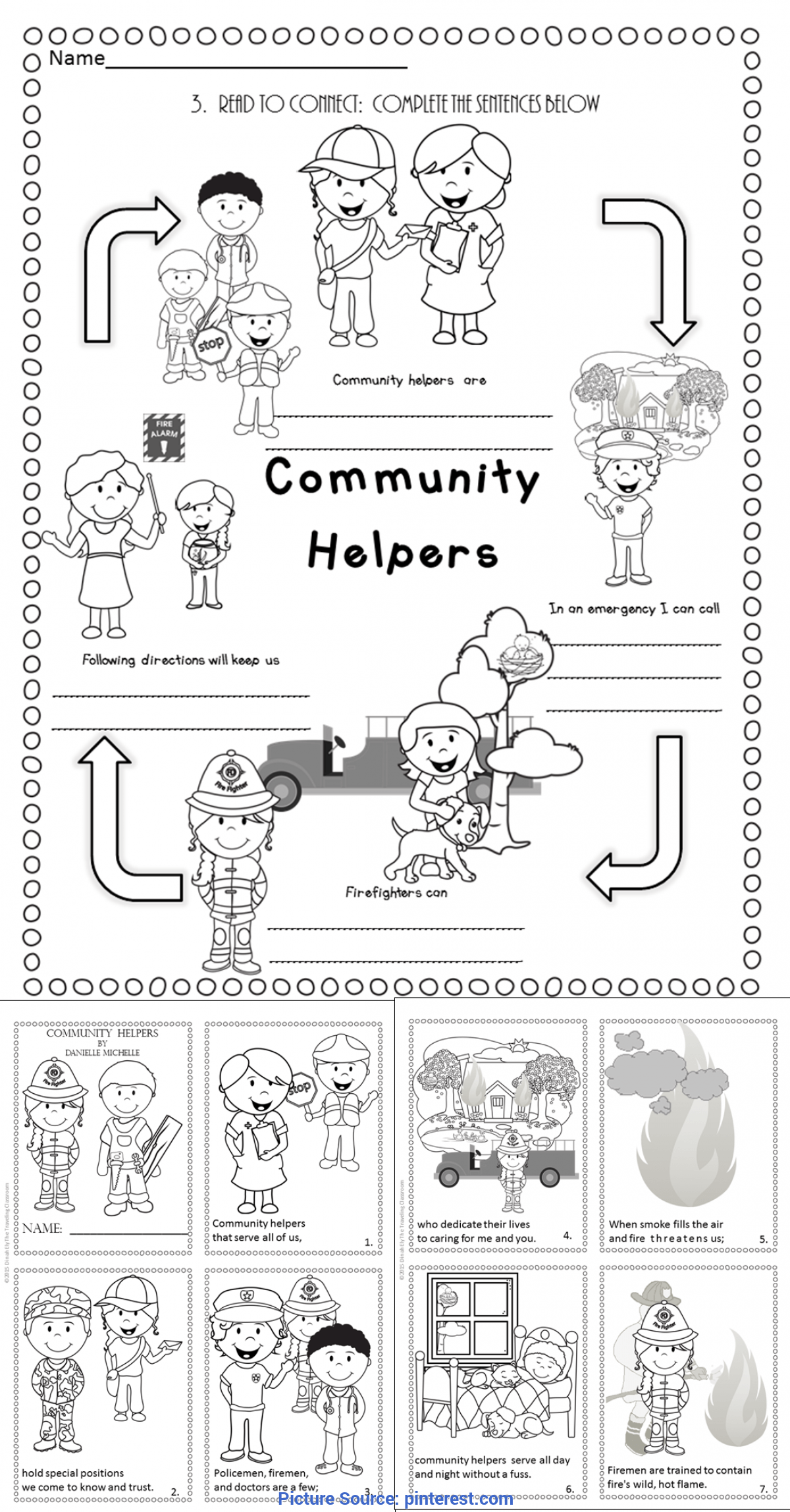 Useful Community Helpers Mini Book Fire Safety