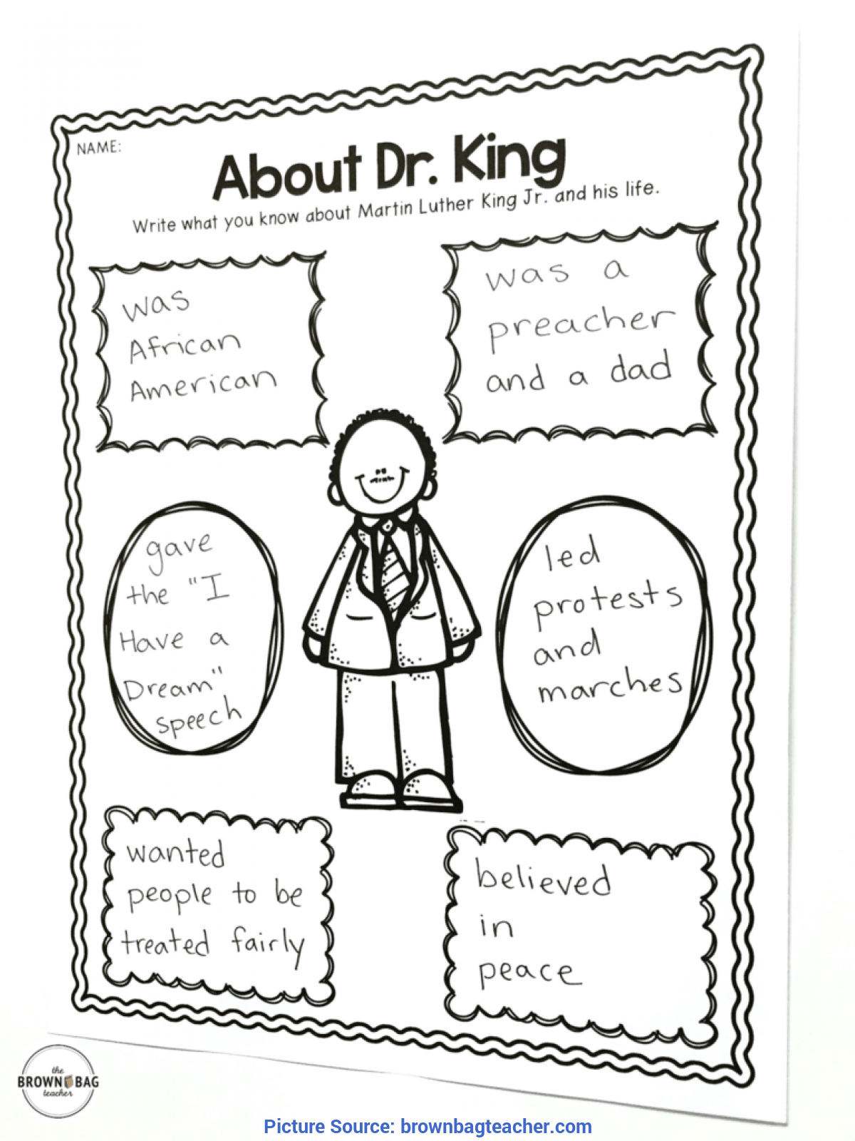 Valuable 1St Grade Lesson Plans For Martin Luther King Jr