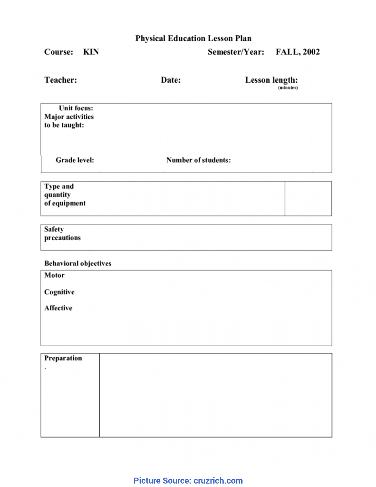 Valuable Edtpa Lesson Plan Template Physical Education