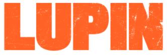 Lupin escrito na cor laranja