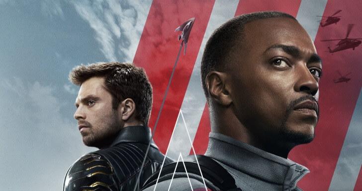 Parte do poster principal da série Falcão e Soldado Invernal