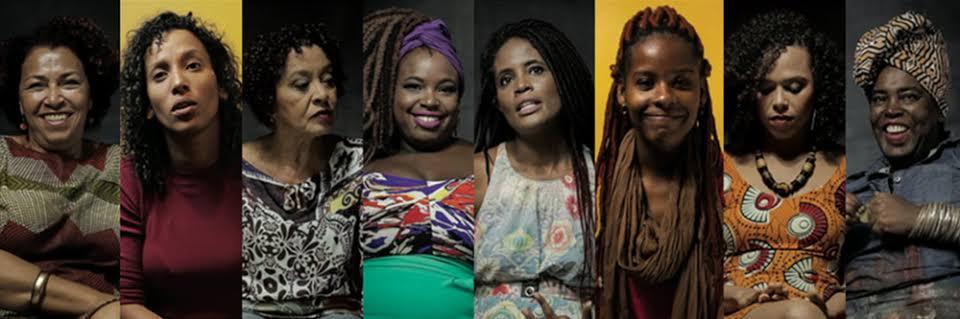 Banner promocional com as mulheres de Mulheres Negras: Projetos de Mundo