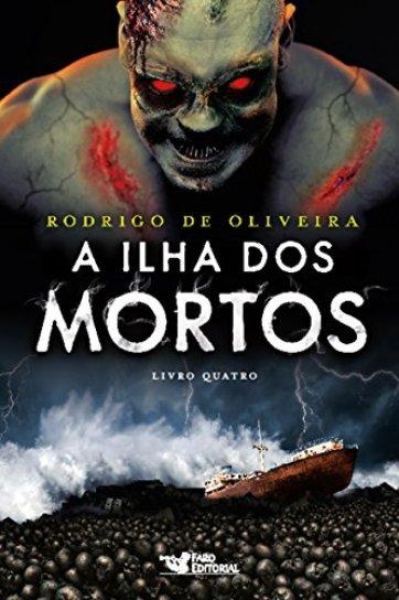 Capa do livro a ilha dos mortos mostrando uma horda de zumbis