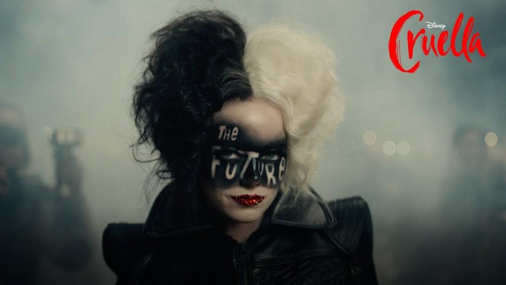 Emma Stone como Cruella, no filme original da Disney.