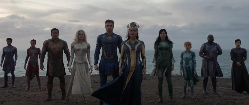 """Imagem promocional de """"Eternos"""", filme dos novos heróis da Marvel Studios"""