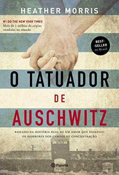 """capa do livro """"O tatuador de Auschwitz"""" - Otageek"""