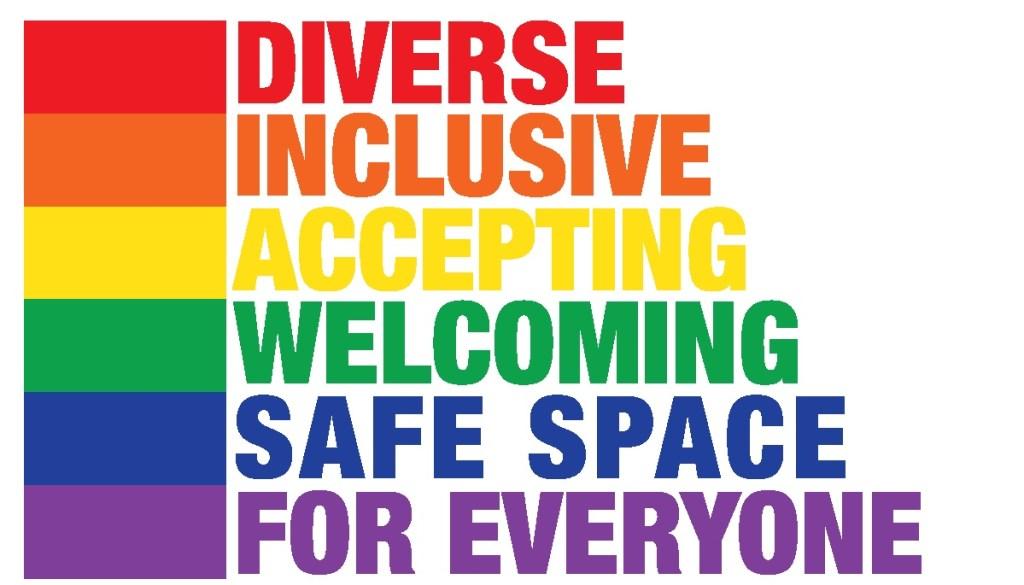 Bandeira-slogan da True Colors United, fundado por Cindy Lauper para auxiliar os LGBTQIA+ moradores de rua.