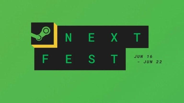 Logo do festival da STEAM com fundo verde