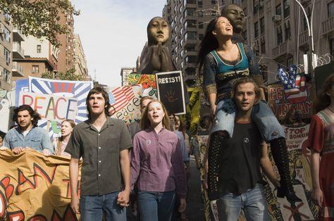 Cena de protesto no filme Across The Universe - 10 filmes de rock - Otageek