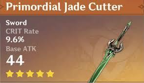 Espada Cortadora de Jade Primordial de genshin impact