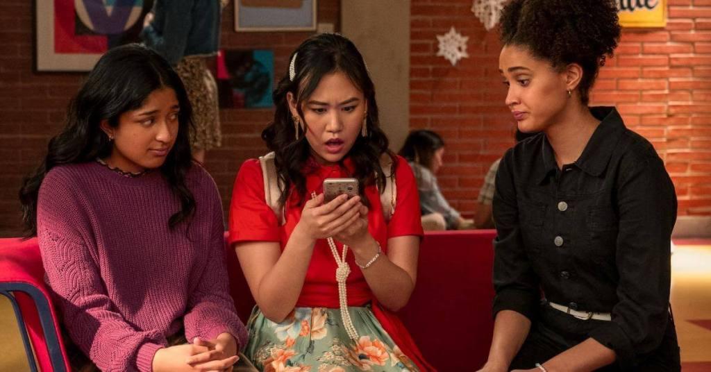 As amigas Devi, Eleanor e Fabiola.
