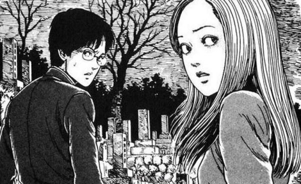Kirie Goshima e Suichi Saito personagens de Uzumaki