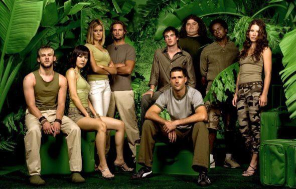 Elenco de Lost em imagem promocional remetente a uma ilha