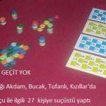 KOZAN'DA TOMBALA OYNAYAN 27 KİŞİYE SUÇÜSTÜ