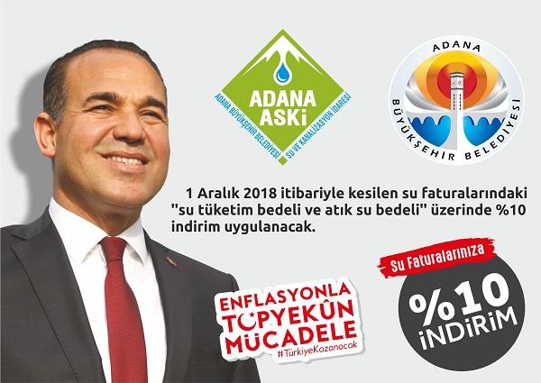 SU FATURALARINDA İNDİRİM BAŞLADI