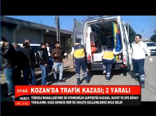 KOZAN'DA MEYDANA GELEN KAZADA İKİ KİŞİ YARALANDI