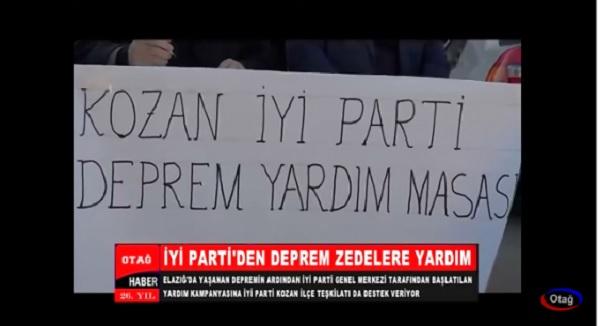 İYİ PARTİ'DEN DEPREM ZEDELERE YARDIM
