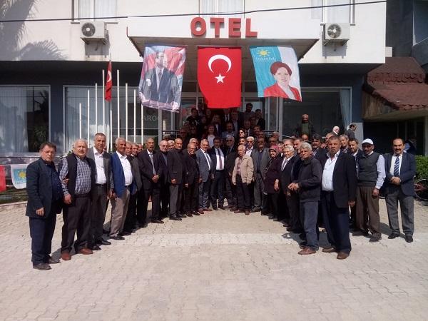 İYİ PARTİ İL BAŞKANI BOYVADAOĞLU KOZAN'A GELDİ
