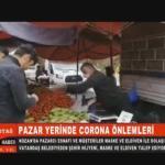 KOZAN'DA PAZAR YERİNDE CORONA ÖNLEMLERİ