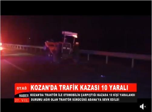KOZAN'DA TRAFİK KAZASI 10 YARALI