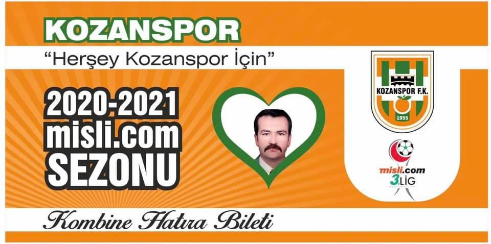 Kozan Spor 2020-2021 sezonu Kombine Hatıra Biletleri satışta