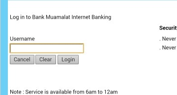 Bank Muamalat, gagal.
