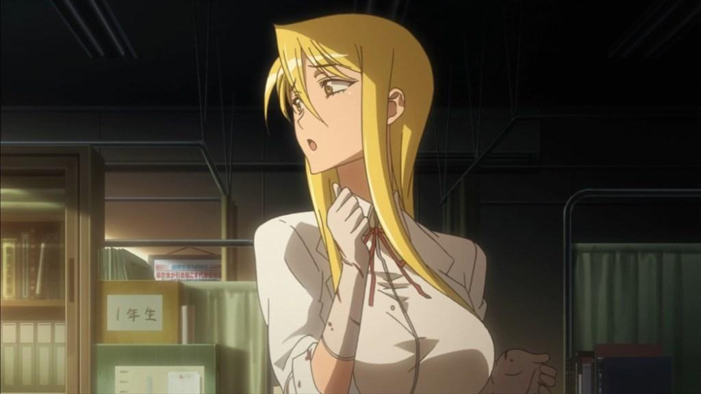 Highschool of the Dead Episode 2 Shizuku Thinking