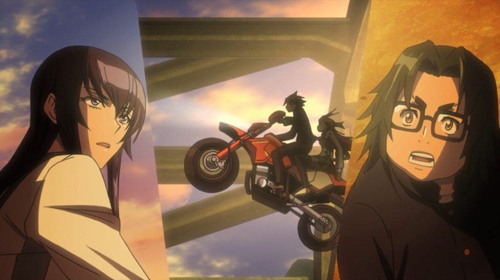 Highschool of the Dead Episode 5 Takashi and Rei's Big Entrance