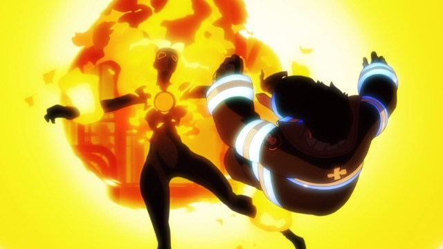 Fire Force Episode 1 Shinra Defeating Infernal
