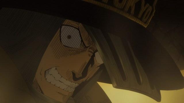 Fire Force Episode 2 Akitaru Obi Catching Falling Ceiling
