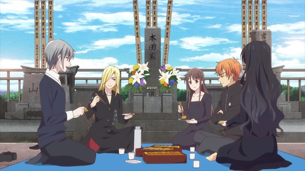 Fruits Basket Episode 14 Tohru Yuki Kyo Arisa Saki Grave