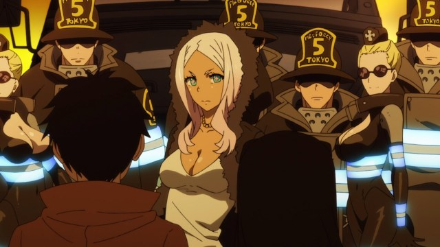Fire Force Episode 4 Princess Hibana Staring At Iris